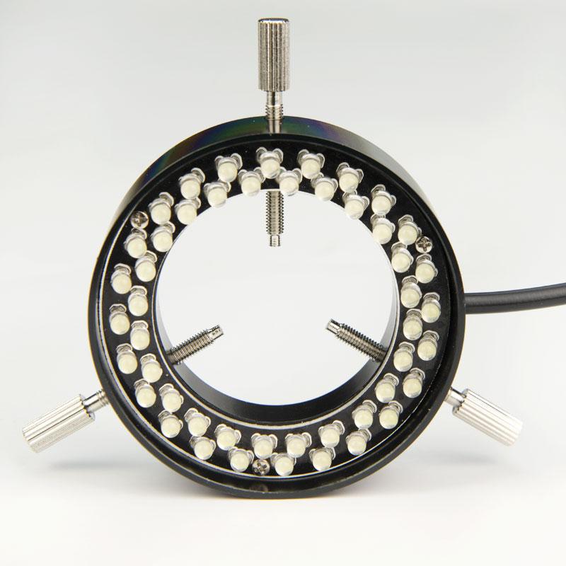 5 واط 220 فولت البصرية مجهر ستيريو المهنية CCD البصرية مصباح ليد مصدر كاميرا صناعية إضاءة 48 LED مصباح مصمم على شكل حلقة