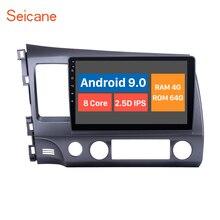 Seincane Android 10.0 voiture radaio GPS navigation pour HONDA CIVIC 2006 2007 2008 2009 2010 2011 LHD soutien 4G WIFI DVR OBD2