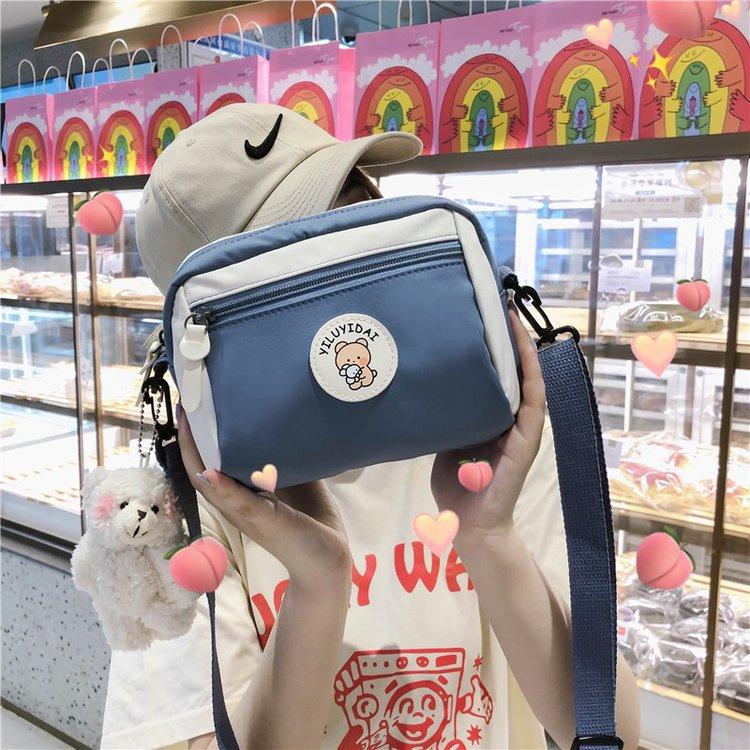 2021 new ladies Korean Small clutch bag Women large capacity casual shoulder bag Girl mobile phone b