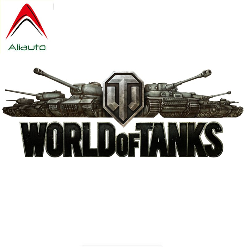 Aliauto Personality Car Sticker World of Tanks Accessories Waterproof Vinyl Decal for Bmw E46 Hyundai I40 Vw Beetle,23cm*9cm