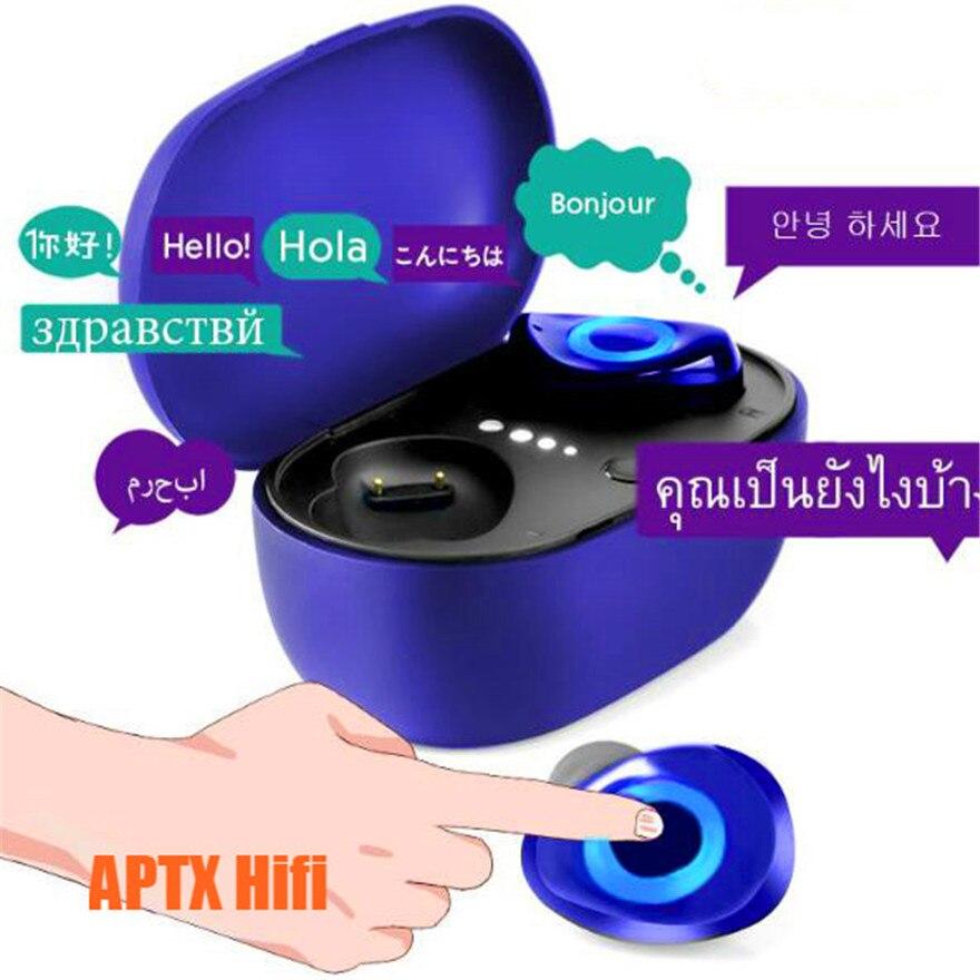 Aptx متعدد اللغات صوت مترجم ضجيج مخفض سماعة بلوتوث سماعات أذن Tws سماعات رأس سمّاعات رأس لاسلكيّ في وسادات أذن