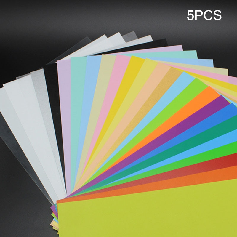 5 Pcs/Set Color Heat Shrink Sheet Plastic Magic Paper Sheet for Educational DIY Crafts SDF-SHIP