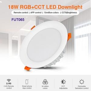 Miboxer LED Downlight 18W RGB+CCT FUT065 AC 100V-240V Round Brightness adjustable LED Ceiling Downlight