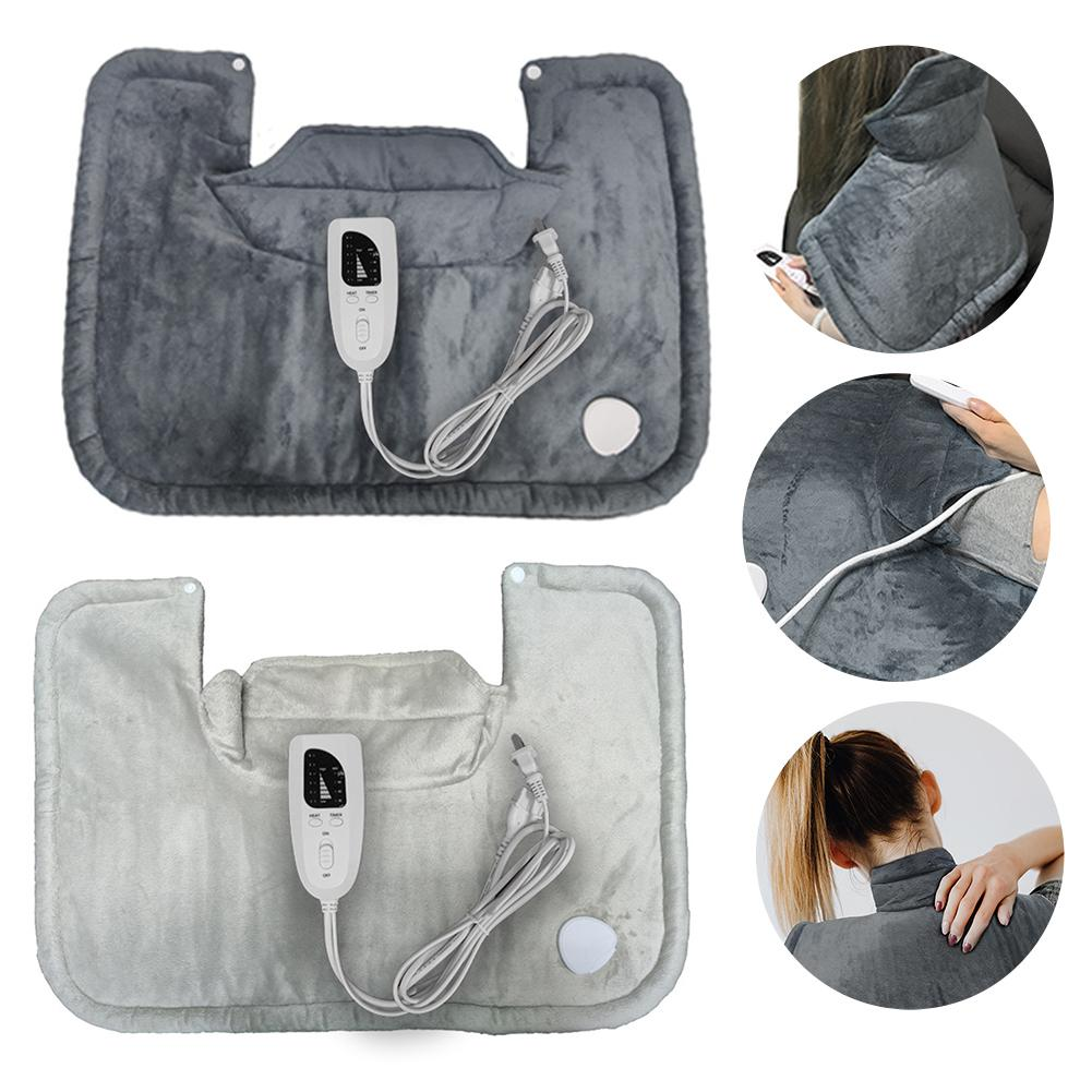Electric Heating Pad Relieve Neck Shoulder Fatigue Heated Shawl Intelligent Temperature Sensing Washable Heating Blanket 58X42cm