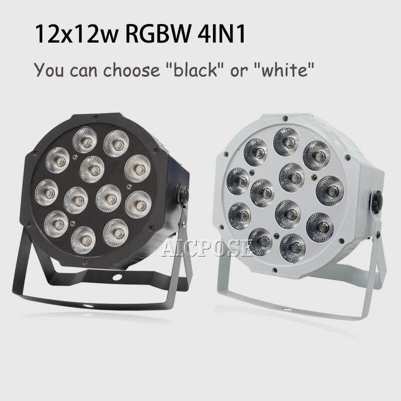 12x12w RGBW 4 في 1 LED مع جهاز التحكم عن بعد DMX512 ، غسالة الجدار ، ديسكو ، ضوء ملون الزفاف ، 12*12w Par