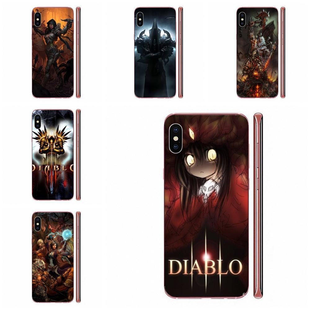 Suave transparente Shell para iPhone 11 Pro XS Max X 8 7 6 6s Plus 5 11 XR SE 2020 juego genial Diablo 3