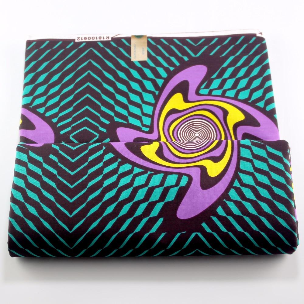 100% algodón Nigeria cera telas africano abstracto moda DIY tela de cera