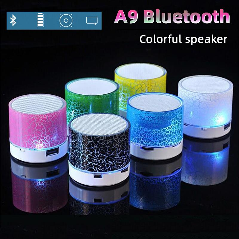 Bluetooth Speaker Mini-Portable Car Led Subwoofer U Disk Card Sound Speaker Audio And Video Speaker Music Sound For Mobile Phone