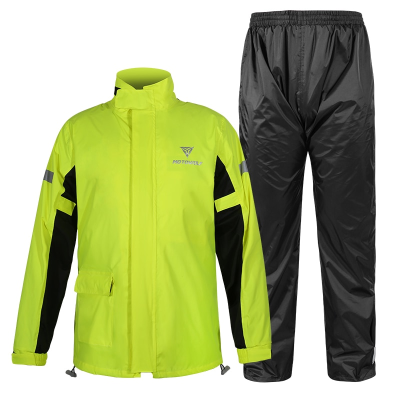 Reflective Motorcycle Raincoat Waterproof Cycling Safety Windproof Raincoat Suit Men Overall Outdoor Camping Hiking dropshipping enlarge