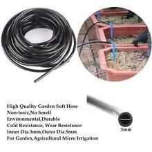 100m ~ 10m wysokiej jakości 3/5mm miękkie rura pvc ogród wąż do nawadniania kroplowego cieplarnianych Bonsai mikro nawadniania kropelkowego przewód giętki Anti-na zimno