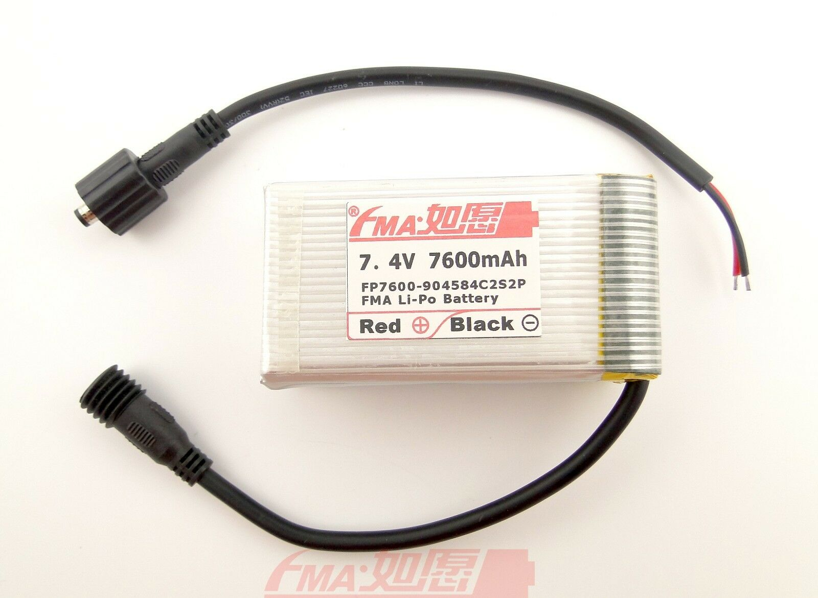 FMA Li-Po Akku 7,4 V 7600mAh für MagicShine LED Fahrrad Licht 904584C2S2P