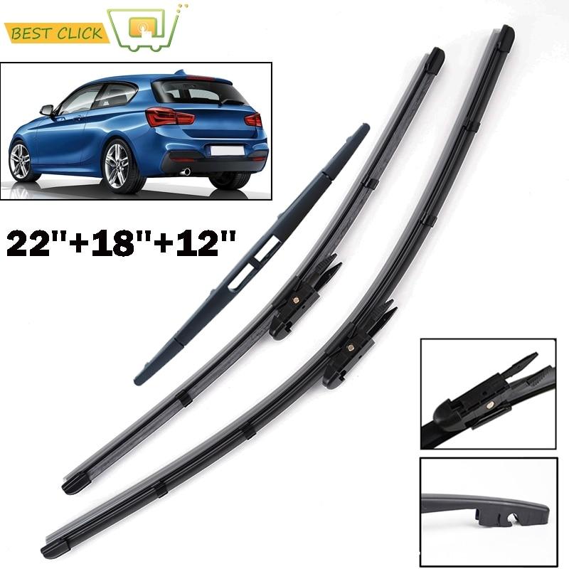 Misima Windshield Windscreen Wiper Blades For BMW 1 Series F20 F21 Front Rear Window Set 2011 2012 2013 2014 2015 2016 2017