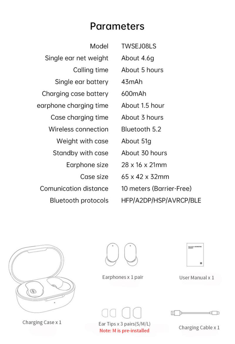 10PCS For Xiaomi Redmi TWS Airdots Pro3 Earbuds True Wireless Earphone Bluetooth-compatitle Noise Reduction Headset With Mic enlarge