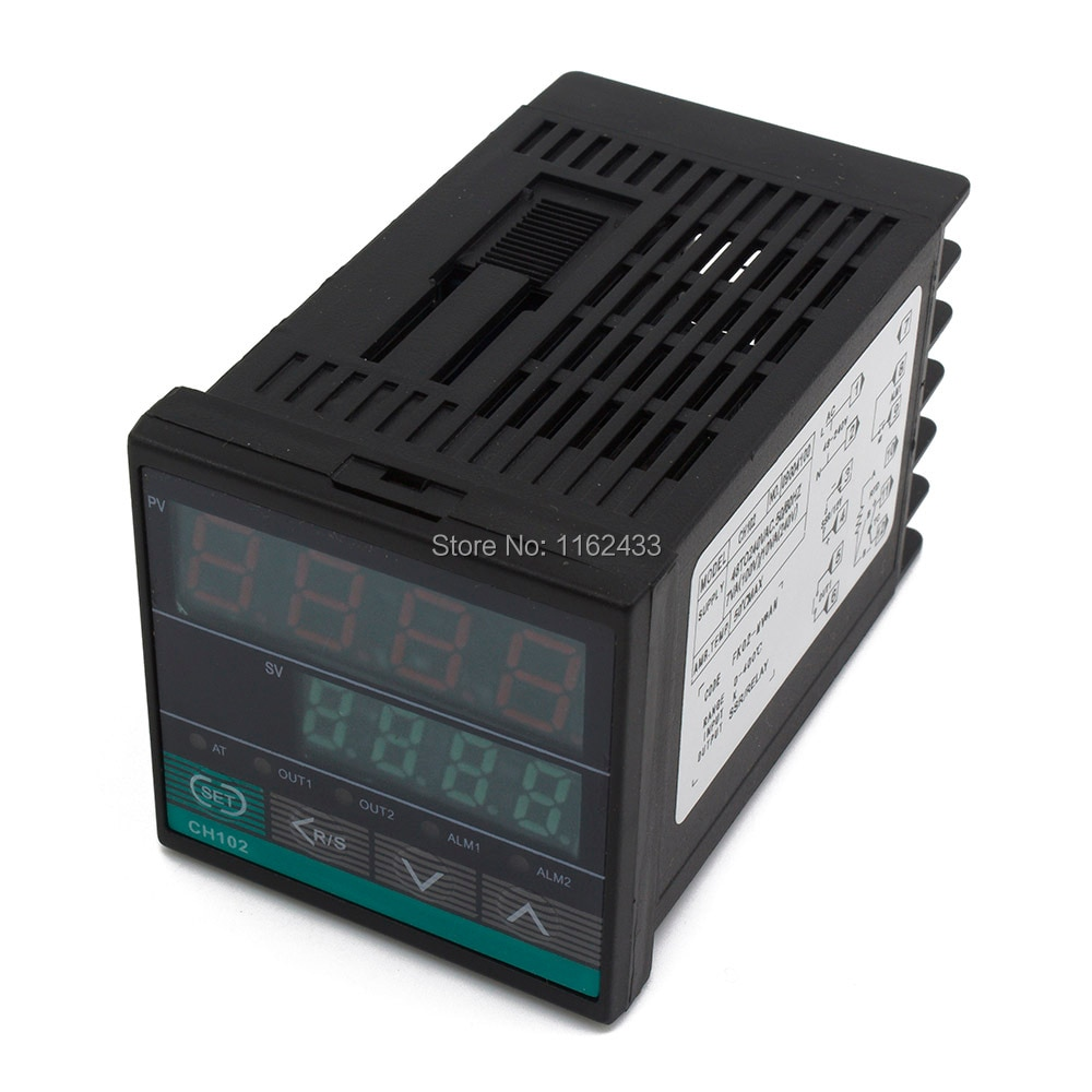 CH102 short case relay + SSR output digital PID temperature controller