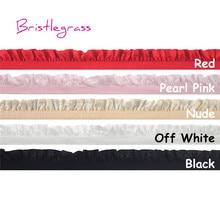 "BRISTLEGRASS 5 Yard 5/8 ""15mm Shiny Frilly Ruffled 레이스 트림 탄성 스판덱스 밴드 Kids Headband Tutu Bridal Wedding Dress Sewing"