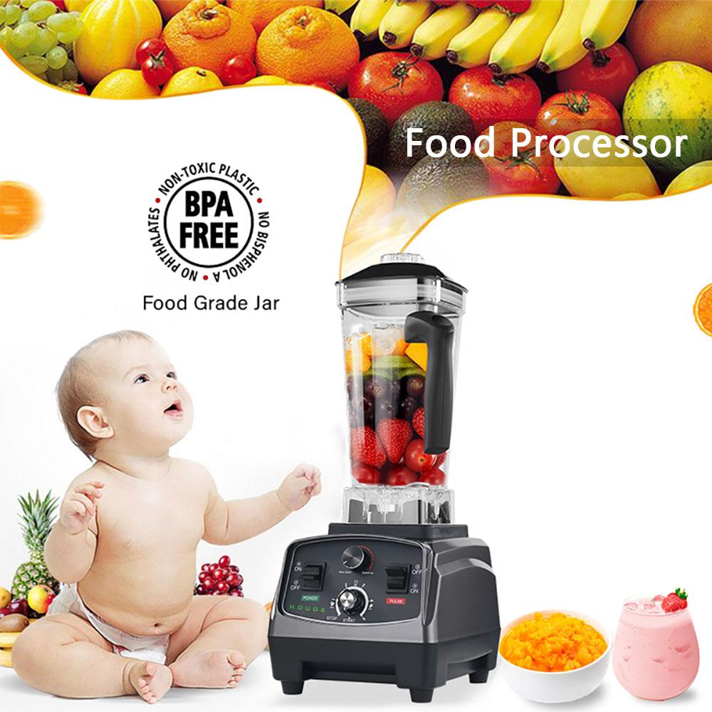 2200W High Speed Food Processor Blender Mixer Whisk Fruit Vegetable Meat Grinder Machine Ice Smoothies Soybean Milk Shake Juicer