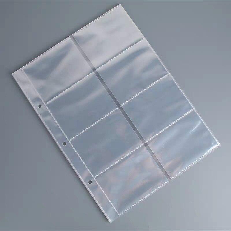 10 stücke Visitenkarte Lagerung Tasche Gedenkmünze Ticket Sammlung Tasche DIY Postkarte Tagebuch Veranstalter Transparent Lose-Blatt Tasche