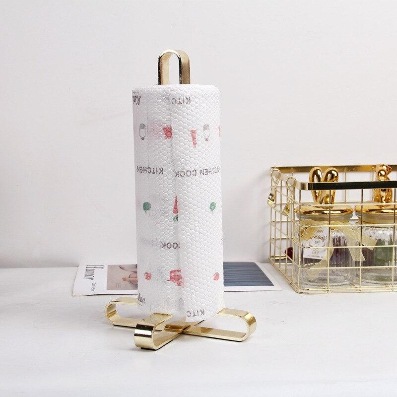Rolo de cozinha suporte papel do banheiro suporte tecido rosa ouro guardanapos rack casa acessórios armazenamento cozinha