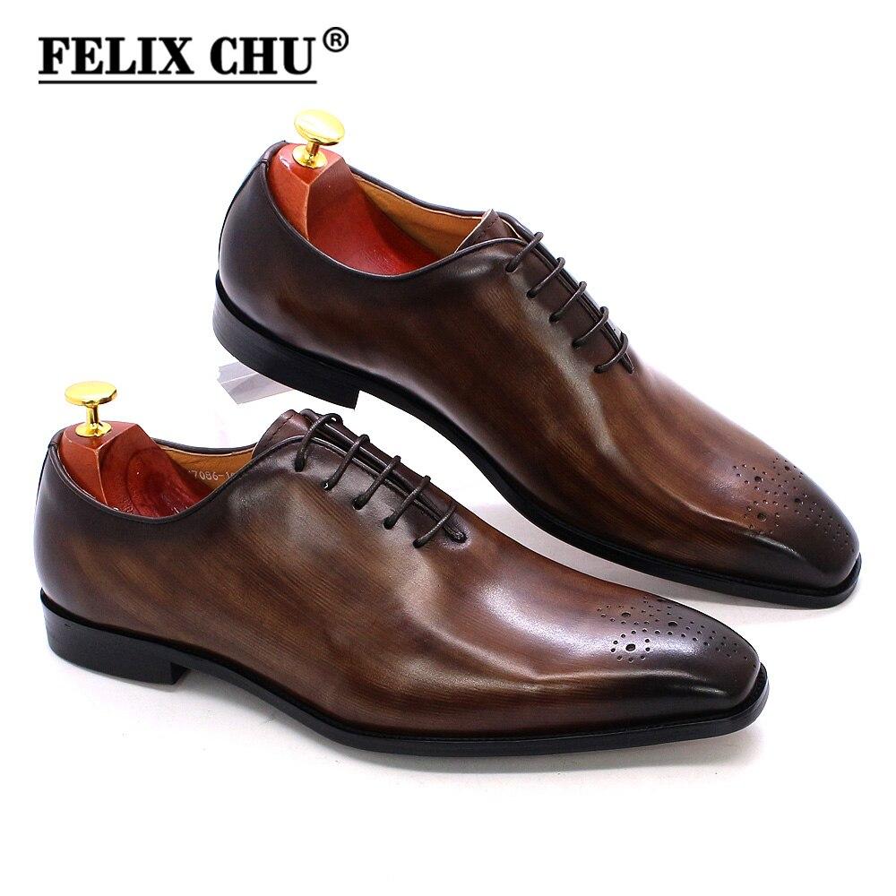 حذاء أكسفورد كلاسيكي من الجلد الطبيعي للرجال ، حذاء رسمي برباط ، مصنوع يدويًا ، لحفلات الزفاف