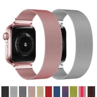 magnetic loop bracelet for apple watch band 44mm 40mm 42mm 38mm stainless steel watchband correa apple watch strap 3 4 5 6 se
