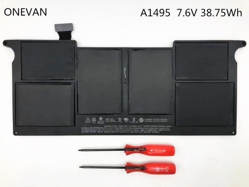 ONEVAN-بطارية كمبيوتر محمول 7.6v 38.75Wh ، لجهاز Apple MacBook Air 11