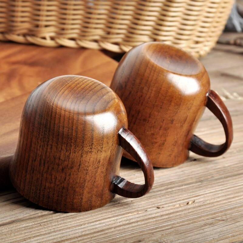 Wood made Green black Tea Cup Mugs China Style Natural Jujube Wooden Cup Classic High-end High-quality Belly Household Drinkware