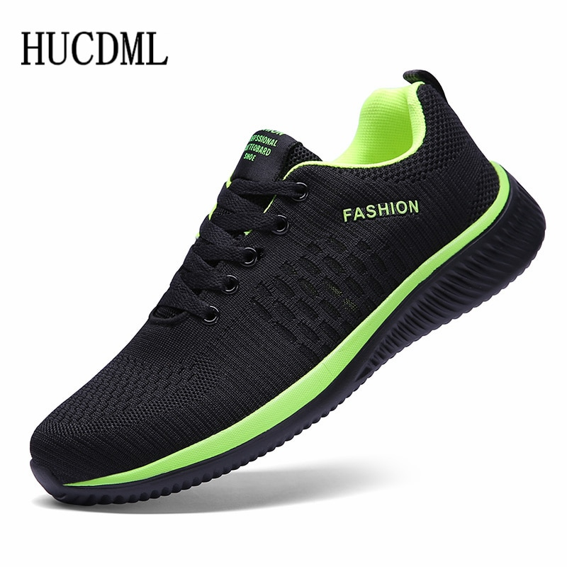 HUCDML New Hot Sale Men Casual Shoes Lace Up Comfortable Men's Shoes Ultralight Walking Sneakers Size 39-45 Dropshipping