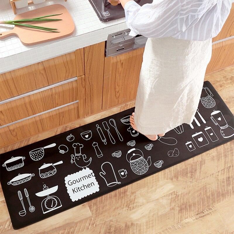 Honlaker японский кухонный коврик водонепроницаемый маслостойкий кухонный коврик ПВХ кожа Анти-усталость кухонный ковер нескользящий износос...