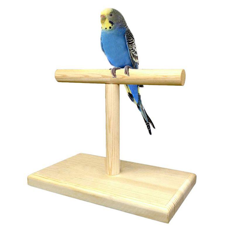 Plataforma de Madeira Para Animais de Estimação Formação Papagaio Empoleirado de Rotação Stand portátil Aves Brinquedos M76D Pata de Moagem