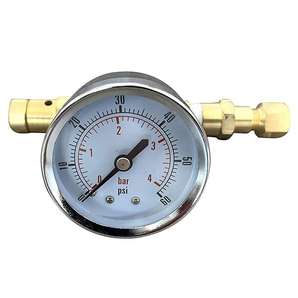 Válvula de presión ajustable con bloqueo de bola con calibre de 0 a 60 Psi, equipo de barril de cerveza casera para cerveza