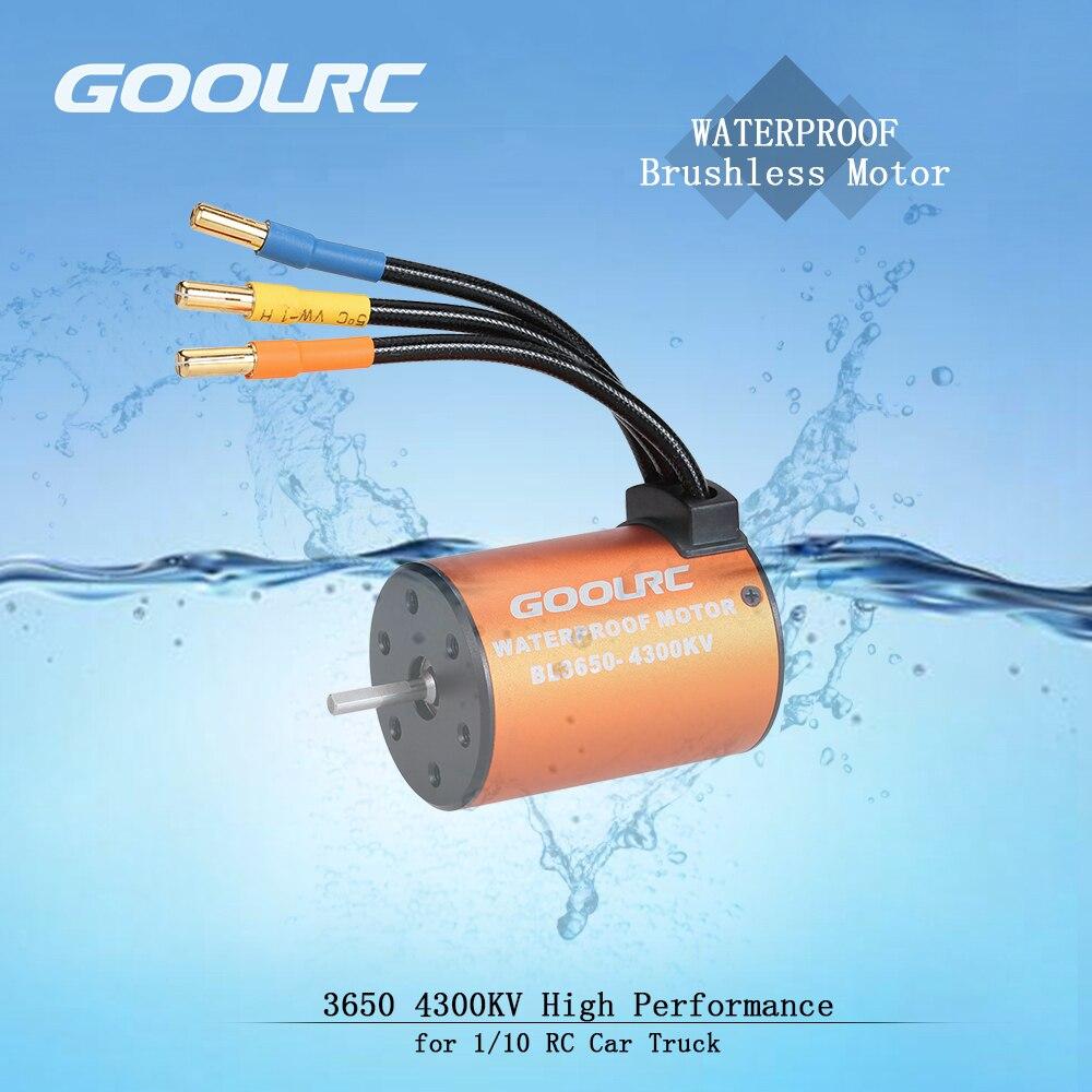 GoolRC 3650 4300KV impermeable sin escobillas Motor para 1/10 RC coche HSP 94123 HuanQi 727 FS Racing 53625/53632