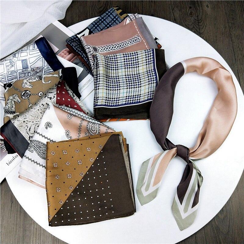Pañuelo para mujer, el pelo de pañuelo para Corea del Sur, pañuelo Retro de colores mezclados, decoración para mujer, bufandas artísticas de seda para literatura