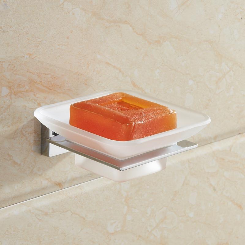 Jabonera de baño Vidric/plato mate cromado jabonera accesorios para estante de jabón