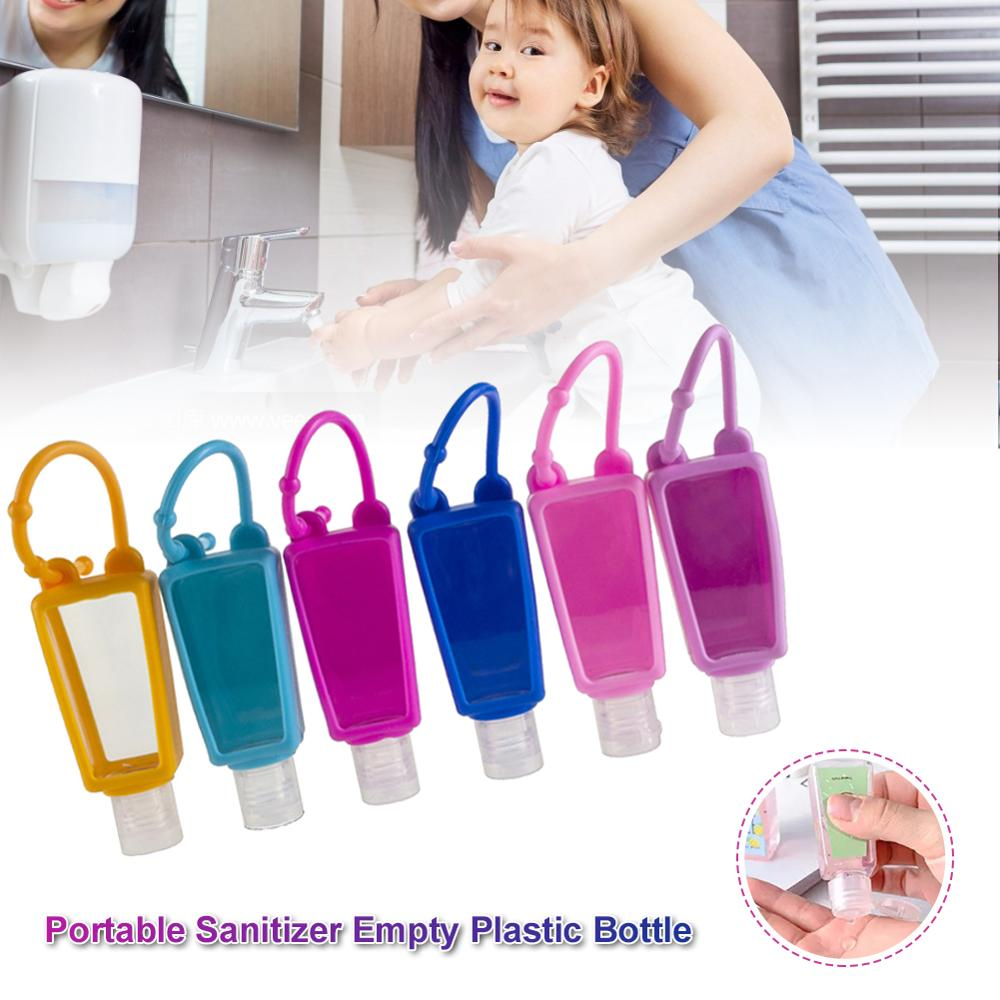10 unids/set botella de Gel de 30ml de silicona segura Mini portátil desinfectante de manos botella de plástico con cubierta
