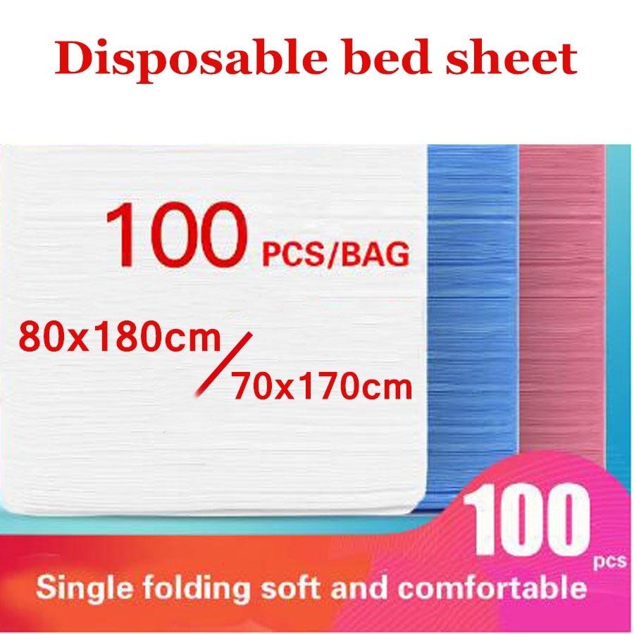 WOSTAR 100 قطعة ملايات سرير للاستخدام الواحد صالون تجميل رشاقته غير المنسوجة النسيج تدليك الجدول غطاء السرير ل 80x180 سنتيمتر savannah نقالة