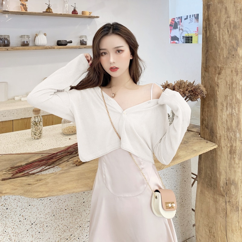 2021 nian Spring New Style Ice Silk Sweater Ladies Blouse Sun Protection Shirt Outer Match Short Blo