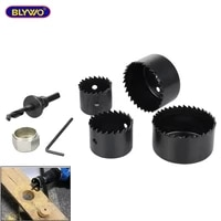 6pcsset carbon steel hole cutter saw drill bit wood sheet hole saw cutting tool kit for carpentry