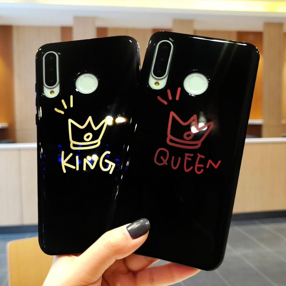 Rey reina parejas para Huawei Mate 30 20 10 P20 P30 Lite Pro P Smart 2019 para Huawei P10 P8 Lite 2017 Funda suave