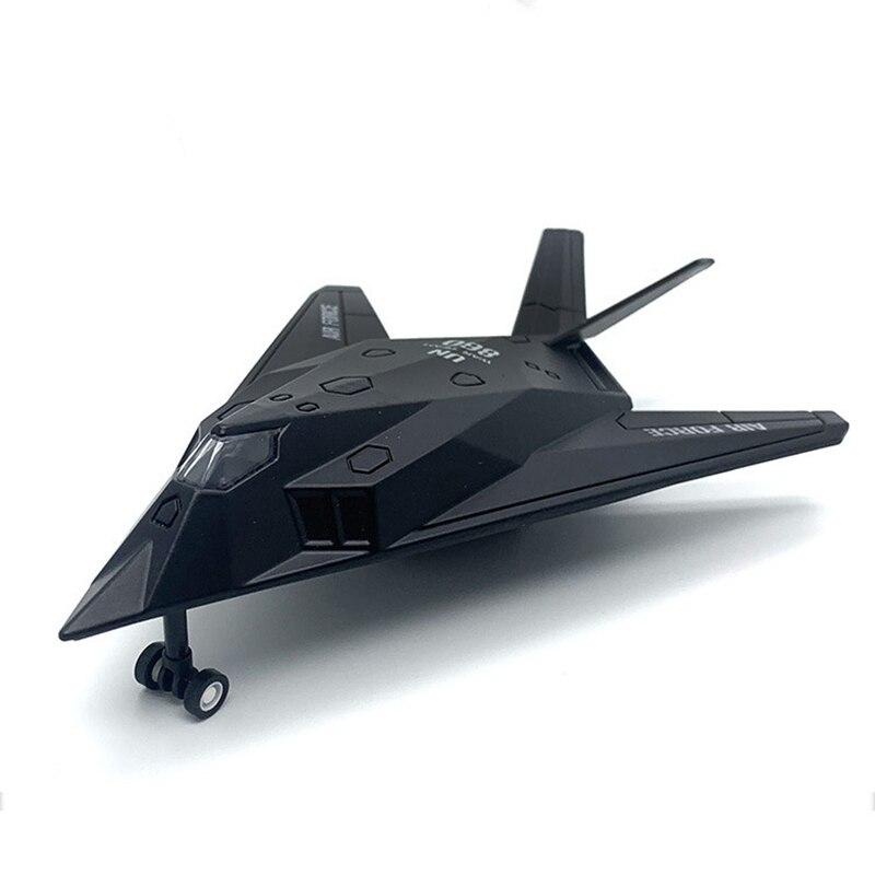 Modèle militaire jouets F117 F-117 furtif combattant Nighthawk combattant moulé sous pression en métal modèle jouet retirer pour enfants cadeaux Collection