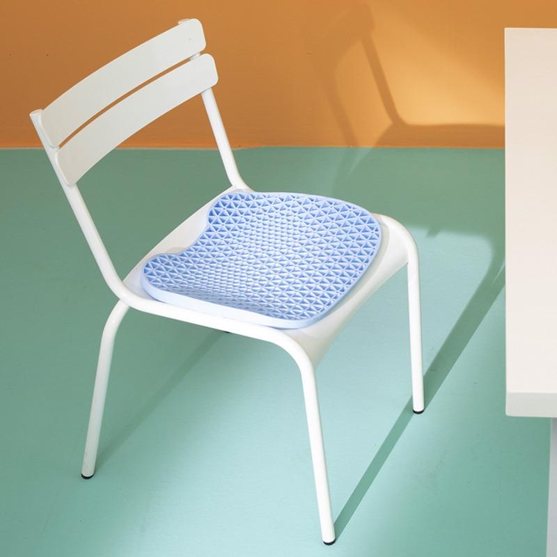 Cooling Gel Ice Pad Seat Cushion Non-slip Honeycomb Foldable Breathable Ice Pad Chair Car Almofada De Gelo Office Decor DM50IP