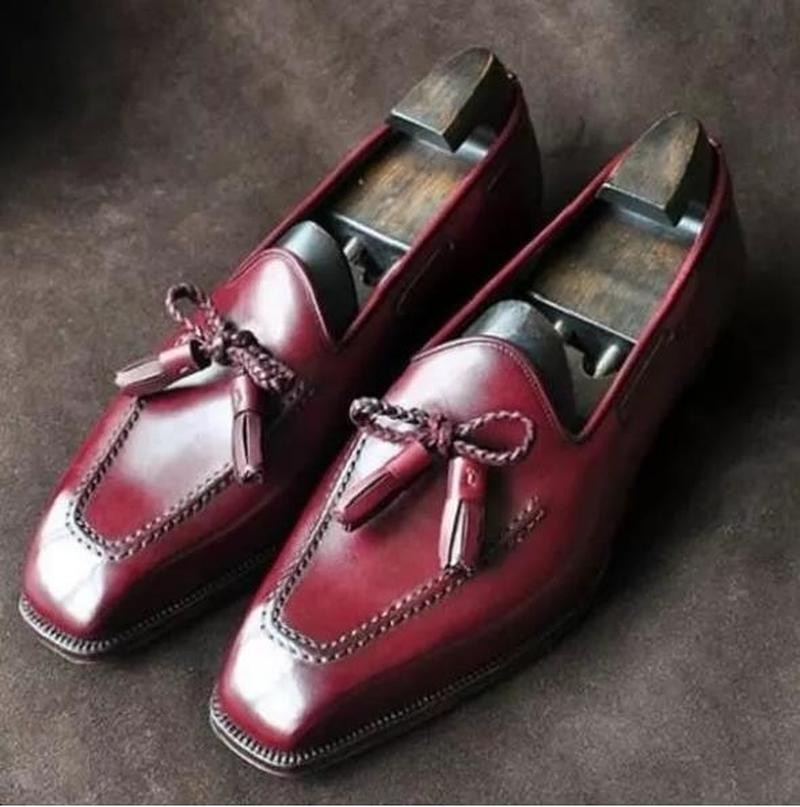 Men Dress Shoes Casual Business Fashion Pu Leather Low Heel Slip-on Shoes Male Retro Classic Trendy