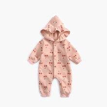 ATUENDO Autumn Fashion Newborn Baby Rompers Winter Warm Satin Soft Girl's Clothes 100% Cotton Silk K