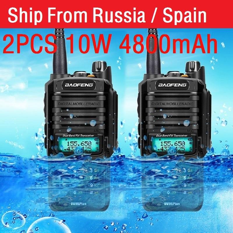 2pcs high Power 10w Baofeng UV-9R plus Waterproof walkie talkie two way radio ham radio cb radio comunicador рация enlarge