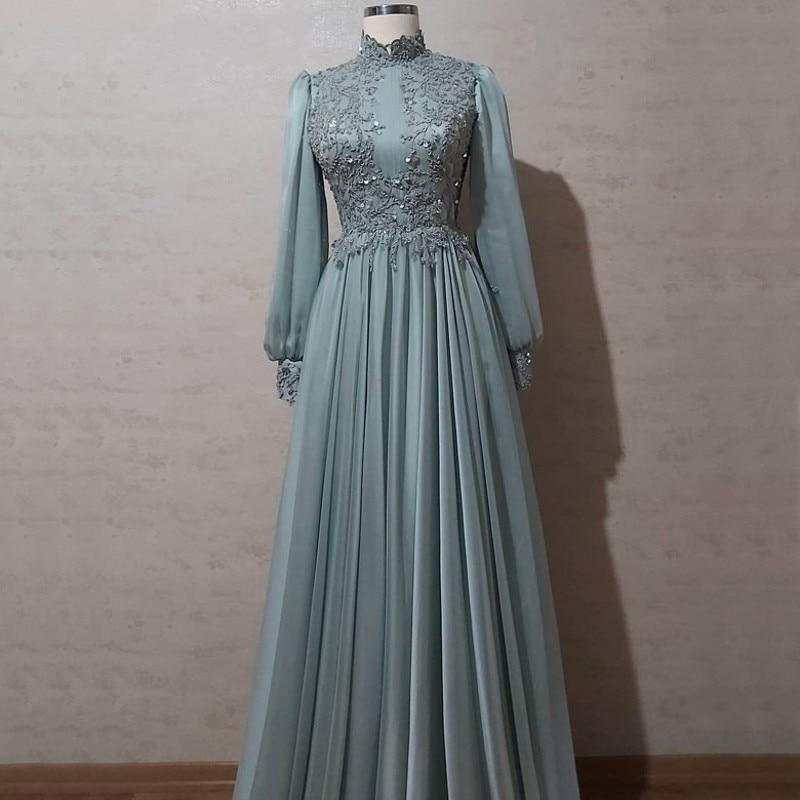 Мусульманские Вечерние платья для выпускного вечера 2020 длинные женские вечерние ночное элегантное платье размера плюс арабский торжестве...