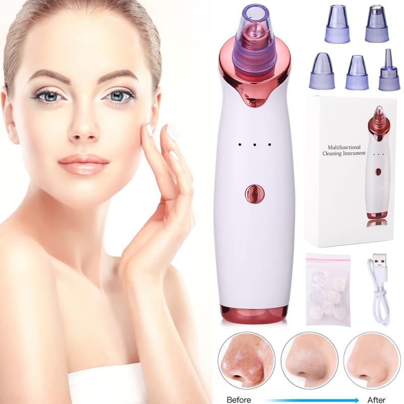 Facial Blackhead Remover Instrument Black Head Remover Acne Vacuum Suction Face Clean Black Dots Pore Beauty Skin Care Tool
