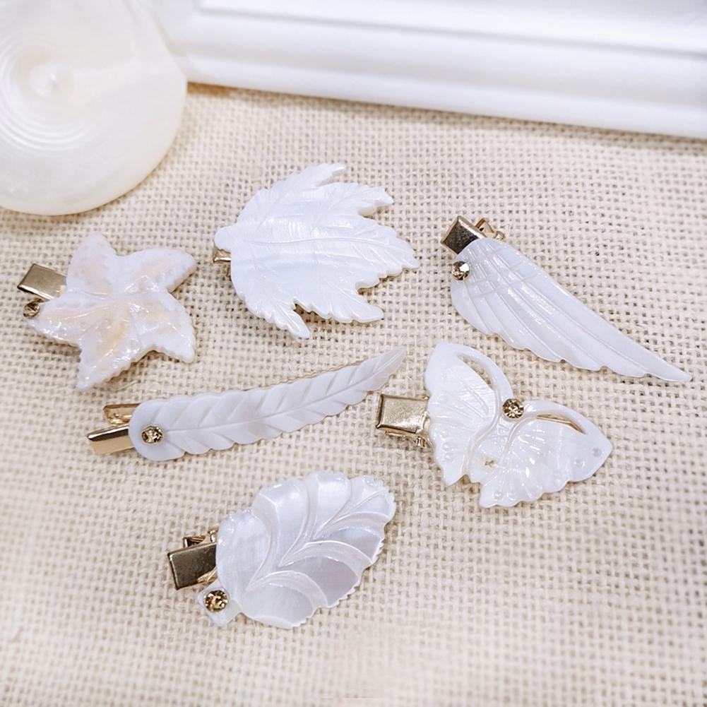 Women Feather Star Maple Wing Leaf Butterfly Duckbill Clip Hairpin Barrette Gift