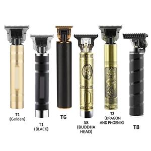 Professional Rechargeable Hair Clipper Cutting Electric Men Cordless Shaver Trimmer 0mm Men Barber Machine Men Beard 2021 USB