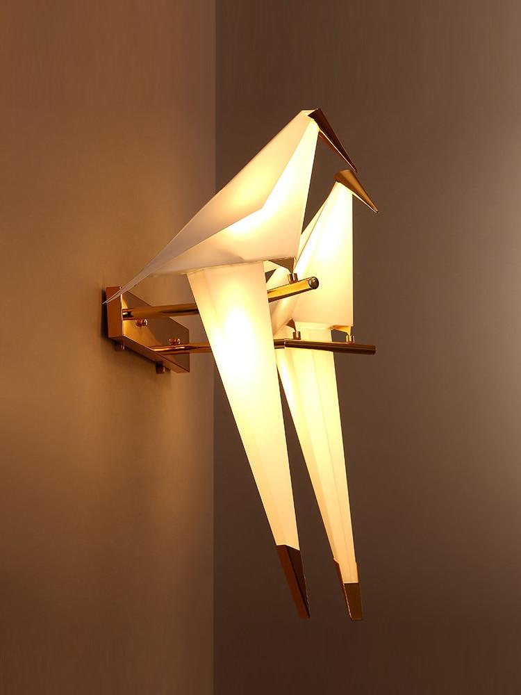 الرجعية المقصورة نمط غرفة نوم السرير الشمعدان مصباح بسيط الحديثة غرفة المعيشة دراسة الجدار مصباح الشمال الإبداعية الشرفة الممر الجدار ضوء