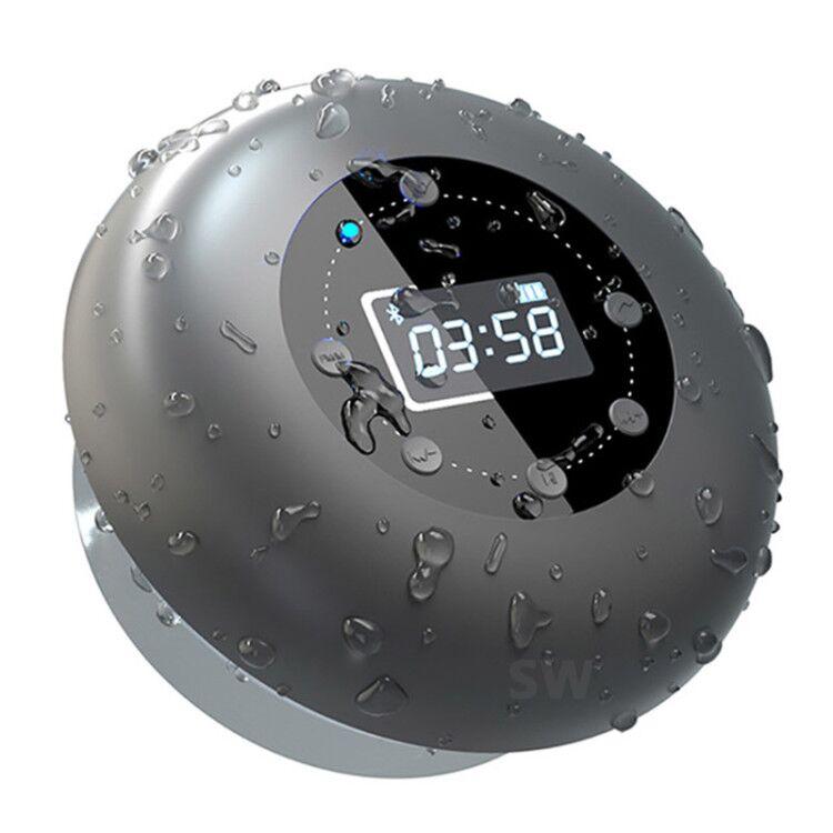 الصوت العمود مقاوم للماء سمّاعات بلوتوث ساعة لاسلكية مضخم صوت راديو FM بطاقة مضخم صوت الموسيقى مركز دش المتكلم