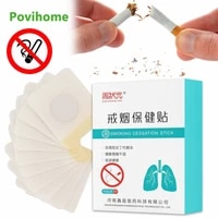 10pcsbox anti smoke patch nicotine replacement patch herbal medical plaster transdermal fast effective stop smoking aid support